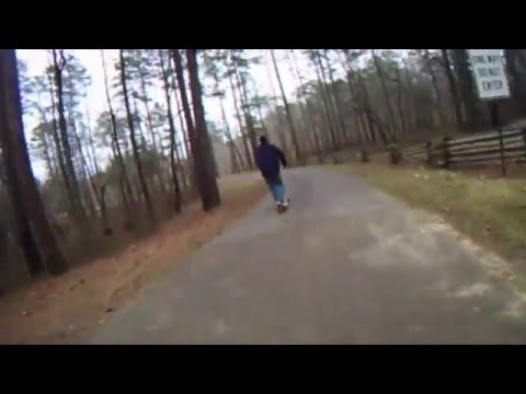 kick scooter going down jeff busby hill natchez trace