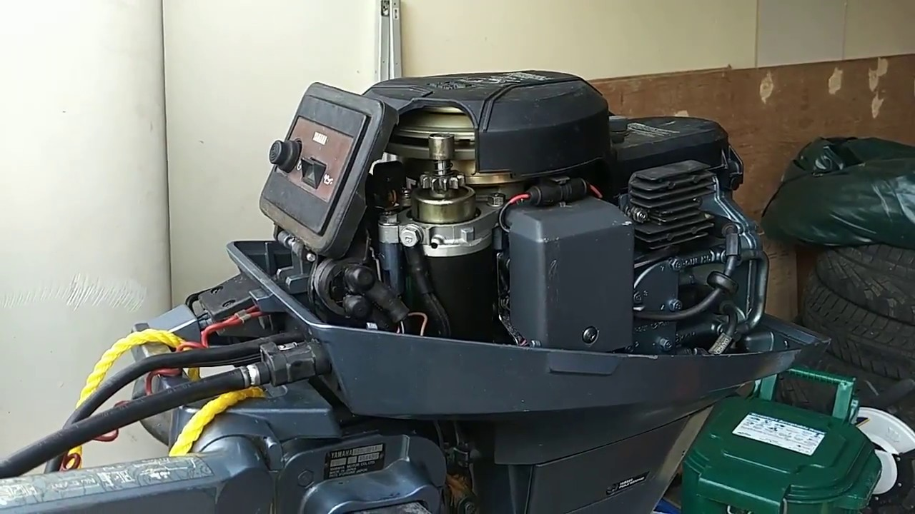 9.9 HP Yamaha outboard idle problems and carburetor spraying with carb  Hp Yamaha Outboards Wiring Diagrams on