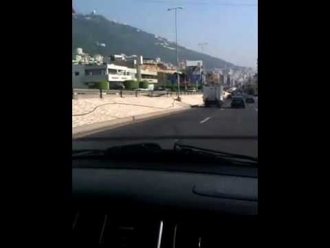 LEBANON - TRIPOLI PORT TO BEIRUT AIRPORT JOURNEY BY CAR