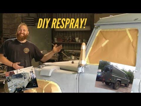 DIY Land rover 110 respray.