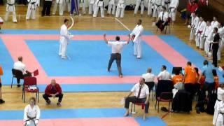 Mens Team Kumite GBR - Sonny Roberts (AKA) v Romania (SHIRO) PT 2