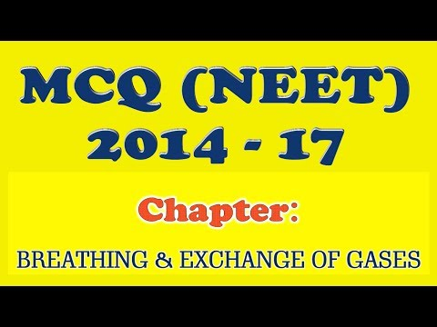 MCQ NEET | Biology | Breathing and Exchange of Gases | 2014 - 2017