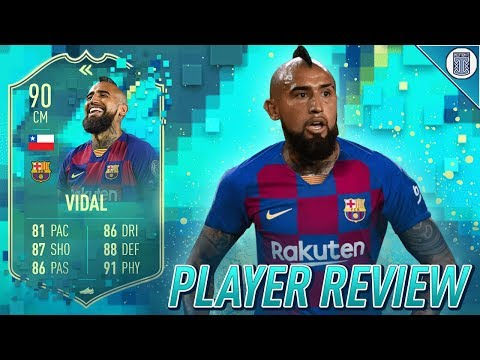 THE WARRIOR! 90 FLASHBACK ARTURO VIDAL PLAYER REVIEW! - FIFA 20 ULTIMATE TEAM