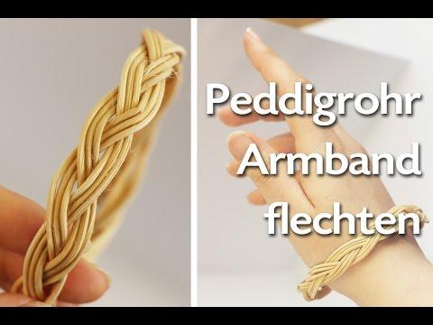 Peddigrohr Armband Flechten Anleitung Talu De Youtube