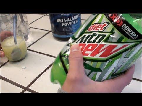 Diet Mountain Dew Preworkout Drink