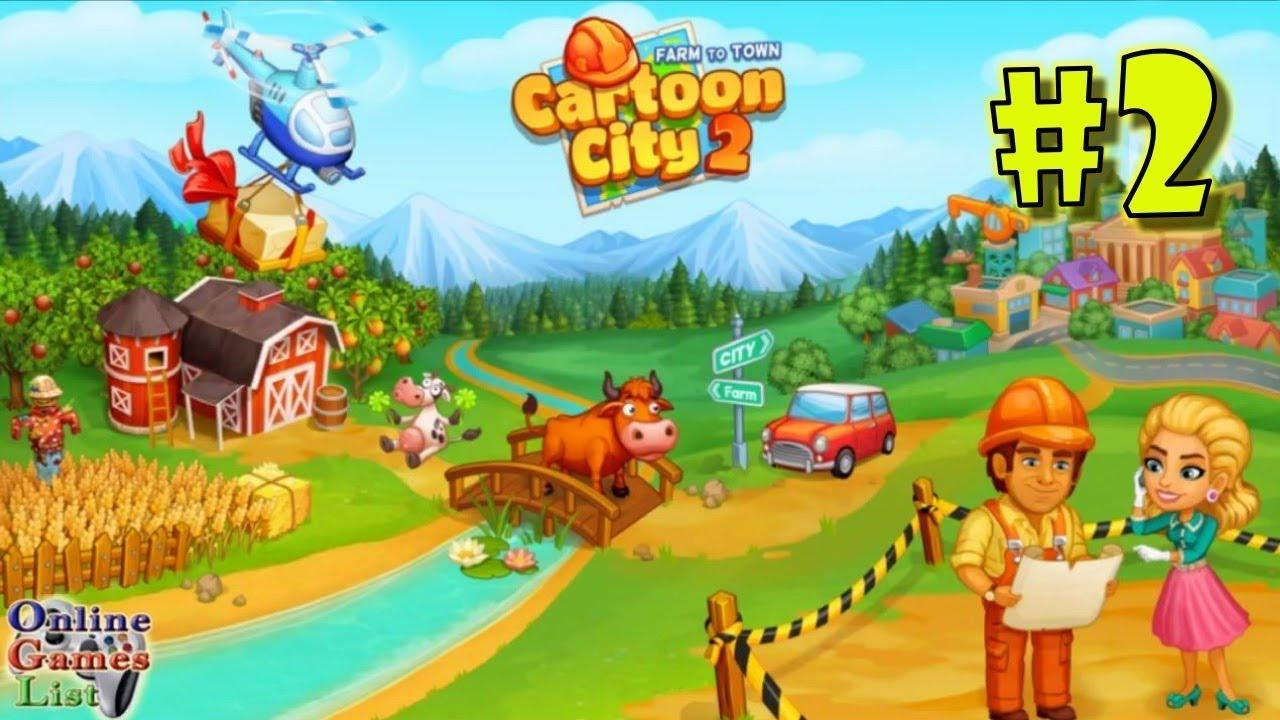 Cartoon City Landscape