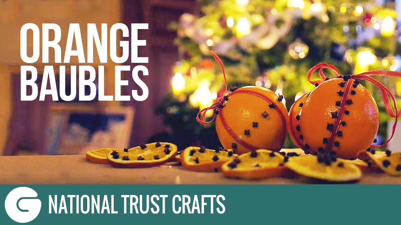 national trust crafts christmas scented orange decorations youtube - Orange Christmas Decorations