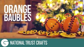 National Trust Crafts: Christmas Scented Orange Decorations