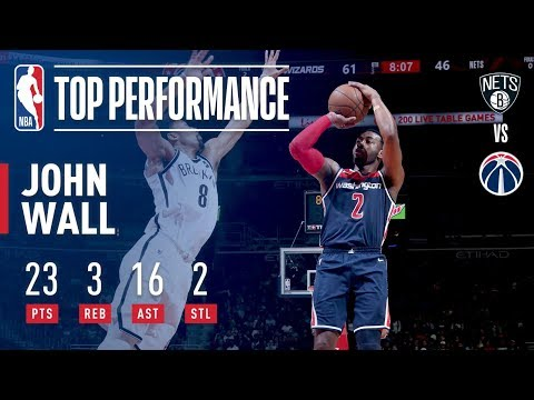 John Wall Leads Wizards in OT Victory Over the Nets | January 13, 2018