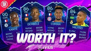 ARE THEY WORTH IT? RTTF DEMBELE, KANTE, COMAN, EDER MILITAO! - FIFA 20 Ultimate Team Player Review