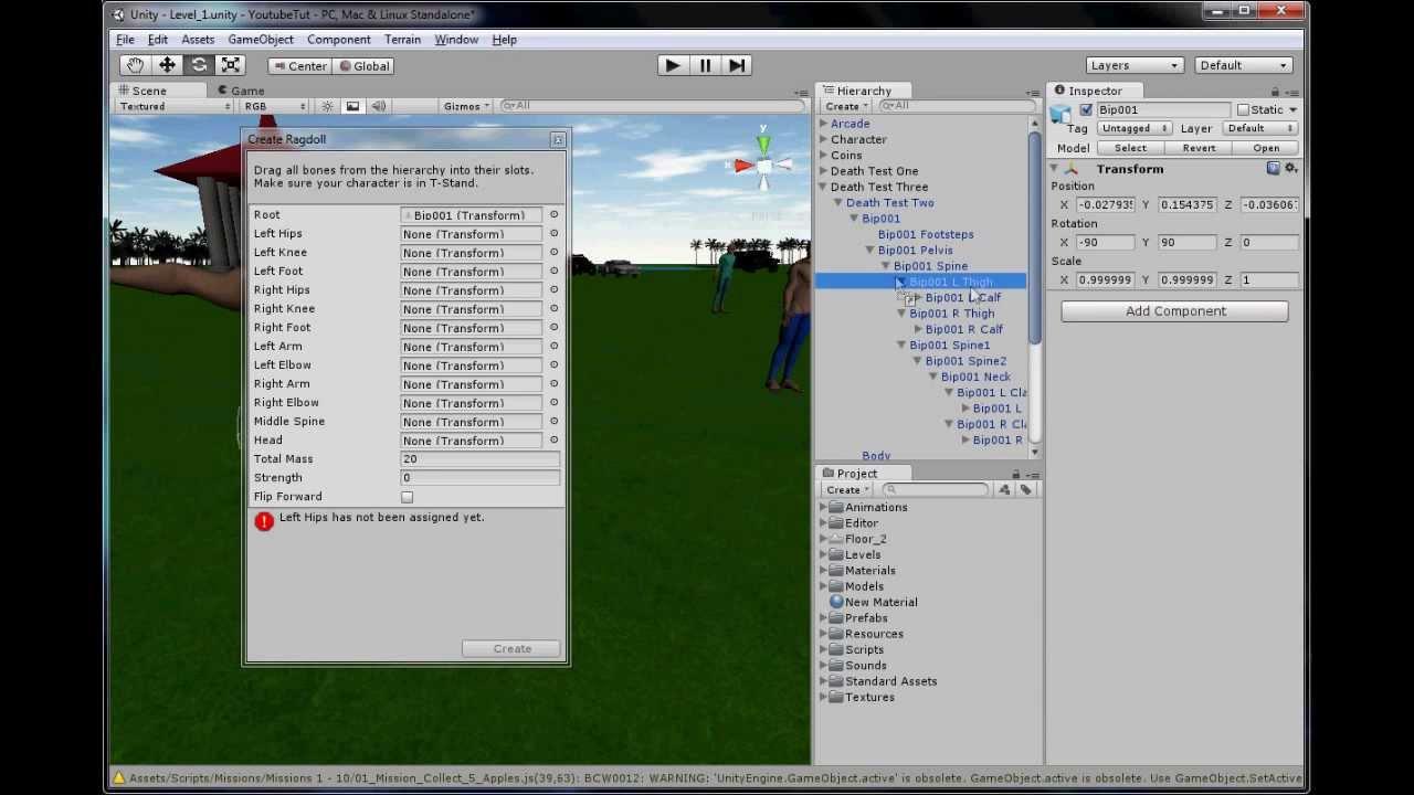 Unity 3D Tutorial Part 87: Ragdoll Physics!!!