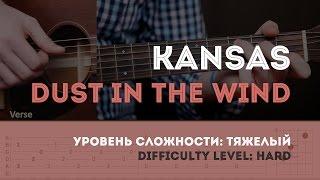 Скачать Как играть на гитаре Kansas Dust In The Wind Guitar Tutorial
