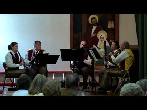 Scotia Band's Woodwind Quintet playing The Teddy Bears' Picnic