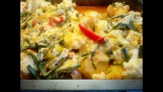Молодая картошка + овощи = в духовке тёплый салат!