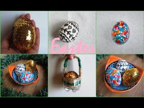 Diy easter mini gift basket easter eggs decorations recycling diy easter mini gift basket easter eggs decorations recycling negle Image collections