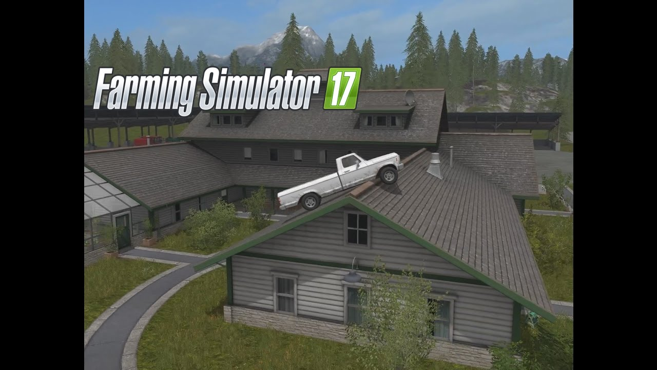 Farming Simulator 17 2 And The Truck Jumped Over The House