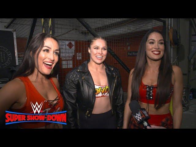 Ronda Rousey & The Bella Twins celebrate