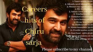 Career hits of Chiranjeevi Sarja | Best of chiranjeevi sarja | Kannada songs | shaane top agavle