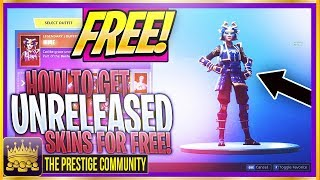 NEW How To Get UNRELEASED SKINS For FREE! (Fortnite Patch 5.41) *Working September 2018* FREE SKINS