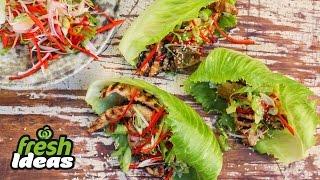 Korean-Style Chicken Recipe With Sweet Crunch Lettuce