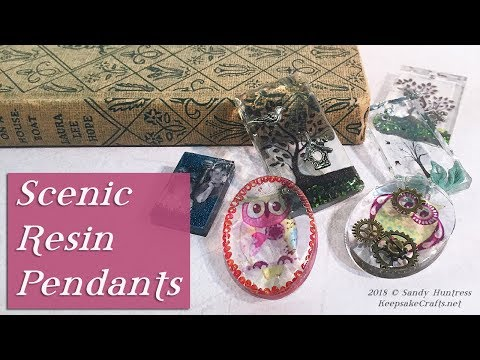 Scenic Resin Pendants-Personal Customized Jewelry Tutorial