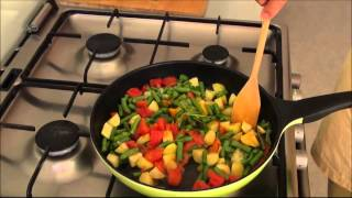 Crispy Curry Potatoes And Green Beans - Vegetarian Cooking