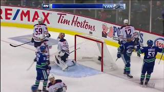 Canucks Vs Oilers - Sven Baertschi Between the Legs Goal 9/18/2018 [HD]