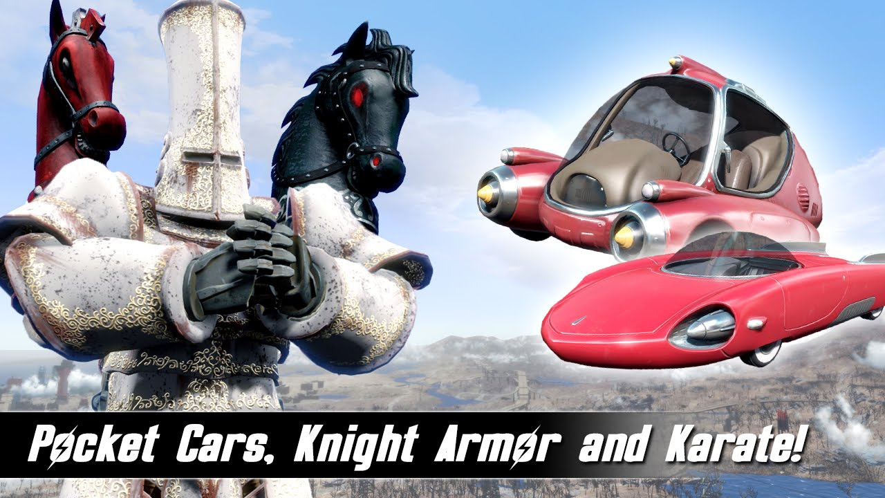 Fallout 4 Mods Week 25 - Pocket Cars, Knight Armor and Karate!