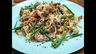 Китайский жареный рис! Самый простой и быстрый рецепт!