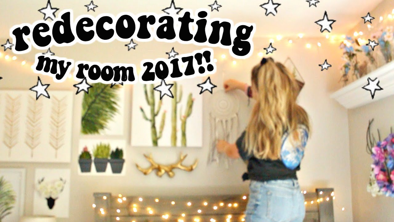 Redecorating My Room redecorating my room 2017!! - youtube