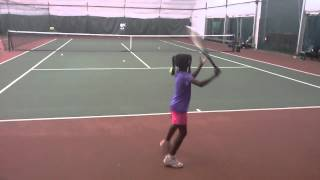 6 years old tennis prodigy Clervie Ngounoue