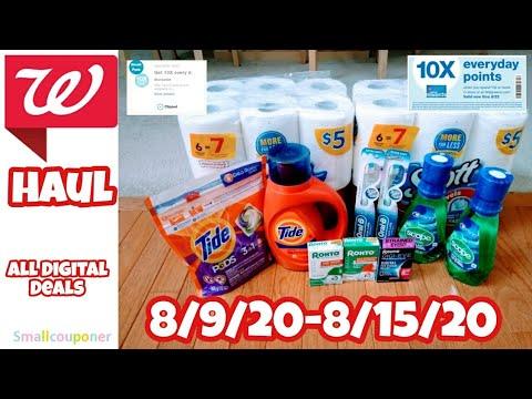 Walgreens Haul 8/9/20-8/15/20! All Digital Deals!