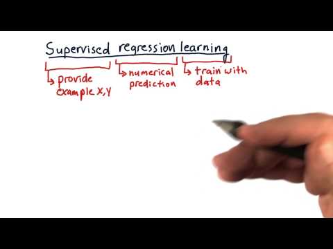 Supervised regression learning