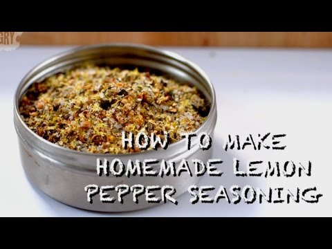 How to Make Homemade Lemon Pepper Seasoning