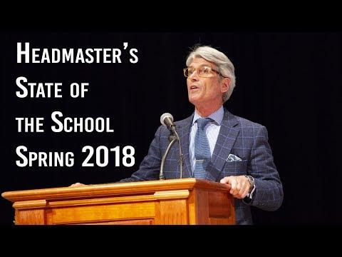 Millbrook School - State of the School Spring 2018