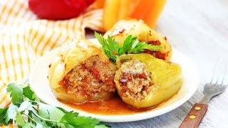 Болгарский перец фаршированный мясом и рисом по-домашнему