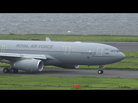 Royal Air Force Airbus A330 MRTT ZZ336 Takeoff from HND 34R