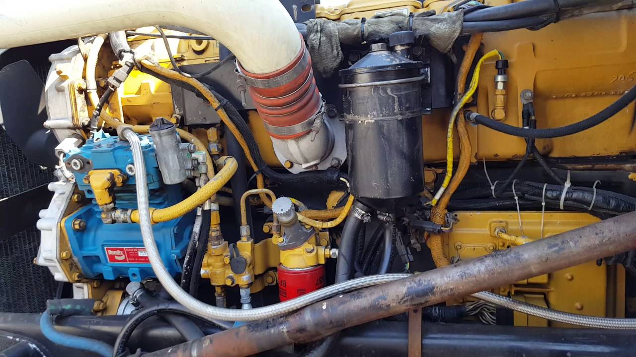 96 peterbilt 379 exhd Cat 3406E 5EK engine at full temperature  YouTube