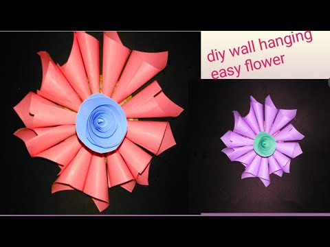 DIY FLOWER EASY WALL HANGING|  DIY FLOWER MAKING IDEA😍