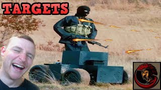 Hilarious Robot Shooting Targets - Military Training Comedy