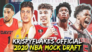 KrispyFlakes Official 2020 NBA Mock Draft