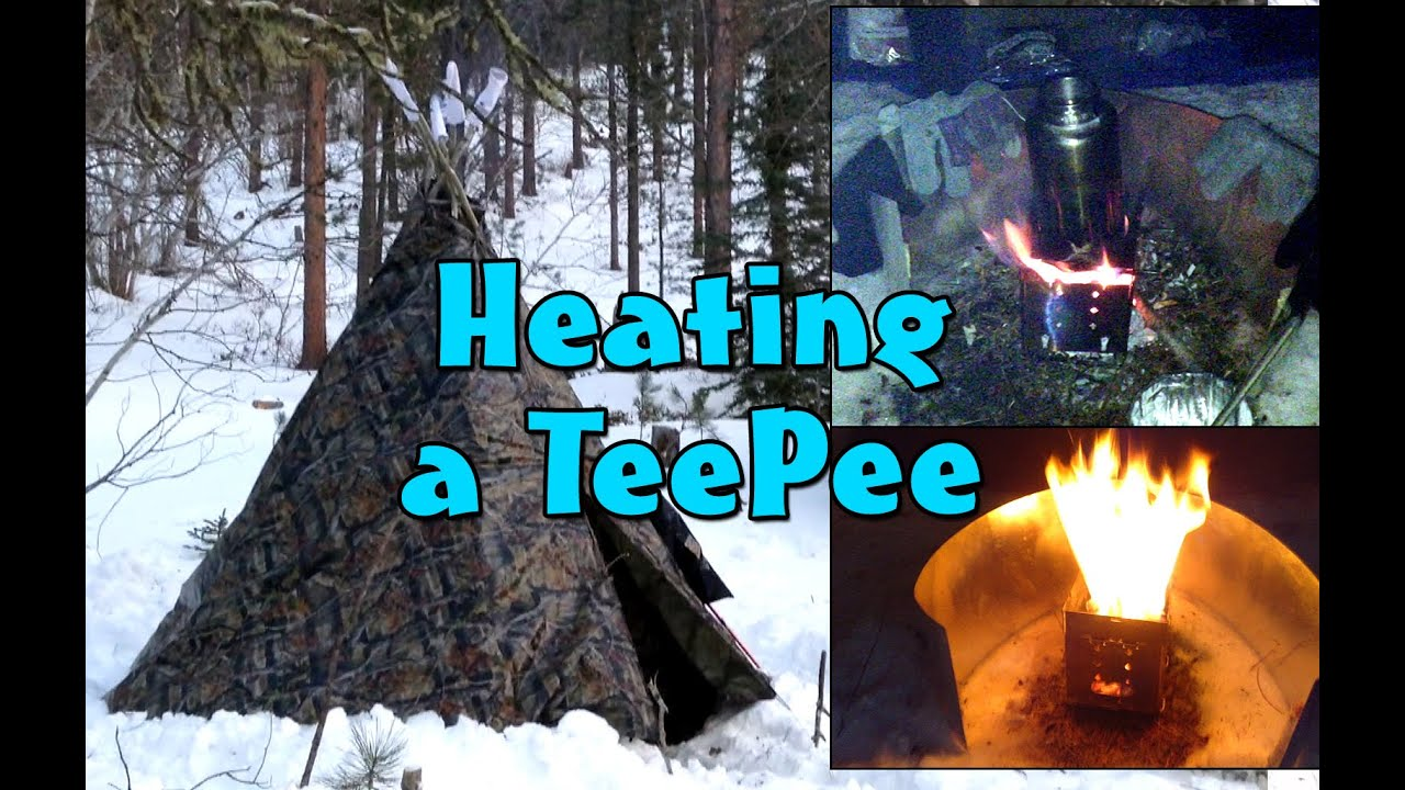 Winter Camping: $7.86 Warm Winter Shelter - YouTube  |Heated Winter Camping Shelters