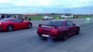 !! New Video Drag Racing  2018 Ferrari California vs Nissan Skyline GTR R32