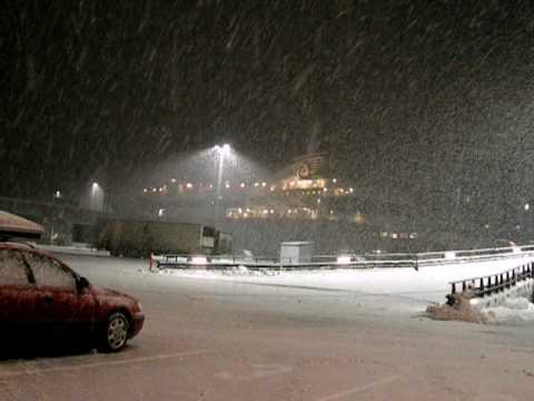 Snow  Larvik, Norway