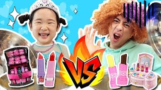 어린이화장품 VS 가짜화장품 리얼푸드 복불복 대결! Challenge with Kids Makeup Kids Cosmetics! - 마슈토이 Mashu ToysReview