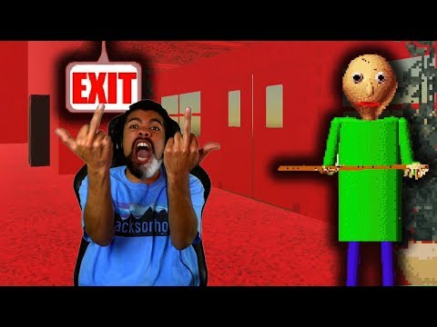 I'M GETTING OUT OF THIS SCHOOL NOW!! | Baldi's Basics in Education and Learning [ENDING]