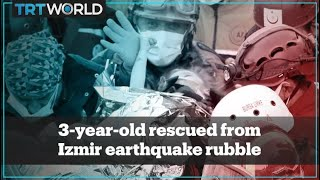 Rescue Of 3-year-old Elif From The Rubble Of The Izmir Earthquake