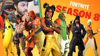 REACTION AL PASS BATTAGLIA 8 e TRAILER VULCANO - Fortnite ITA w/ Tear Heme