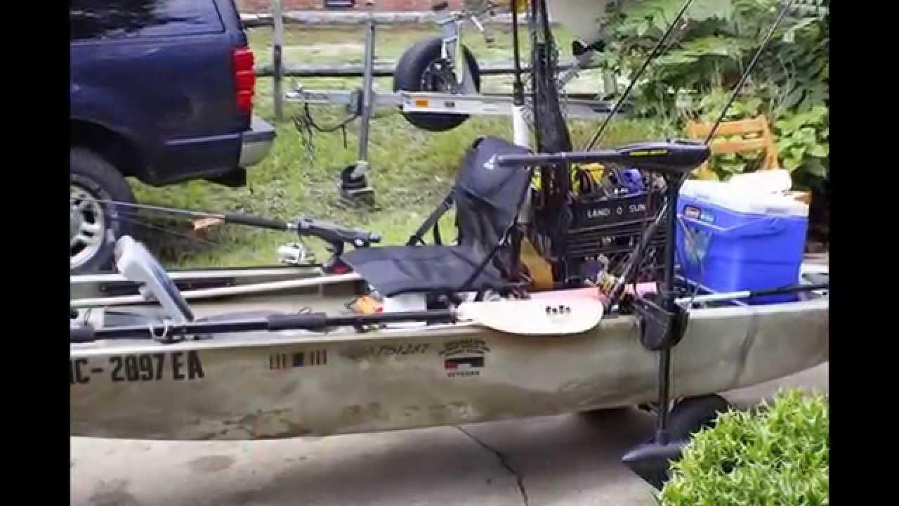Ascend fs128t sit on top angler kayak youtube for Ascend 12t trolling motor