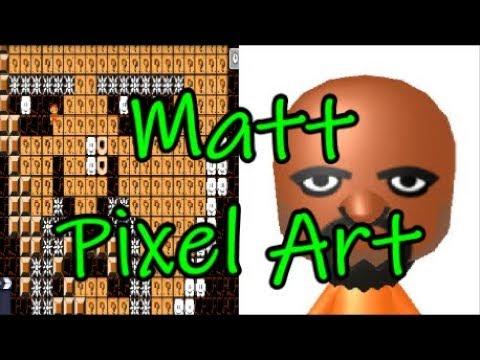 Matt Mii Pixel Art Tutorial in Super Mario Maker thumbnail